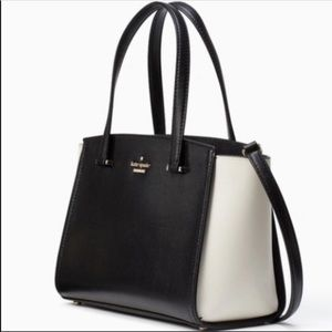 Kate Spade Geraldine Large Satchel in Black &White